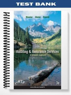 Textbook solutions manual for auditing assurance services a test bank auditing assurance services a systematic approach 7th edition messier at fandeluxe Image collections