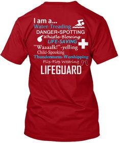 Discover The Lifeguard Final Launch! T-Shirt, a custom product made just for you by Teespring. - Lifeguard + I Am A. Lifeguard Memes, Lifeguard Shirt, Swim Lessons, Flip Flops, Swimming, Mens Tops, How To Wear, T Shirt, Life Guard