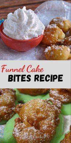 Funnel Cake Bites Recipe | Food Food Food