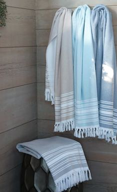 Turkish Beach Towel Set Fingertip Towels Bath French Country Farmhouse
