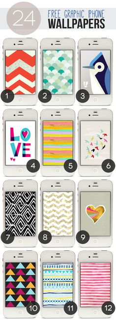 Lines Across: 24 Free Graphic iPhone Wallpapers