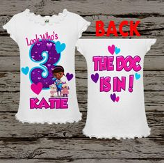 Doc McStuffins Birthday Shirt Doc by BellaFashionDesignz on Etsy