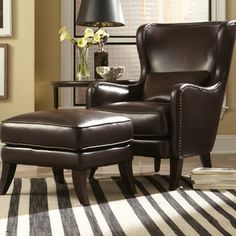 Simon Li Simon Li Huntly Chair and Ottoman