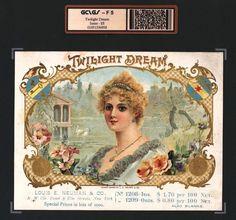 vintage cigar labels | Twilight Dream F 5 Vintage Cigar Box Advertising Label #6958.jpg