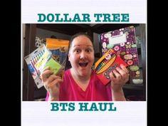 DOLLAR TREE BACK TO SCHOOL HAUL!!! #ad
