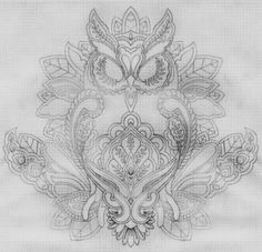 owl mehndi henna design