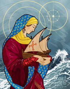 The Sea Star Art Print by Lawrence Klimecki. All prints are professionally printed, packaged, and shipped within 3 - 4 business days. Choose from multiple sizes and hundreds of frame and mat options. Catholic Religion, Catholic Art, Religious Art, Catholic Saints, Madonna, Images Of Mary, Blessed Virgin Mary, Star Art, Our Lady