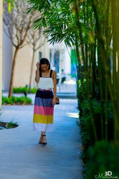 Colorblock skirt & crop top