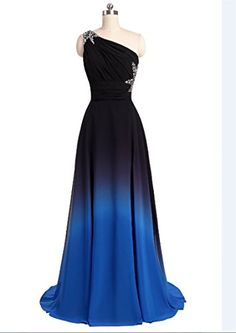 fefc7b8b8365c Chiffon Evening Dresses, Chiffon Dress, Prom Dresses, One Shoulder, Party  Gowns,