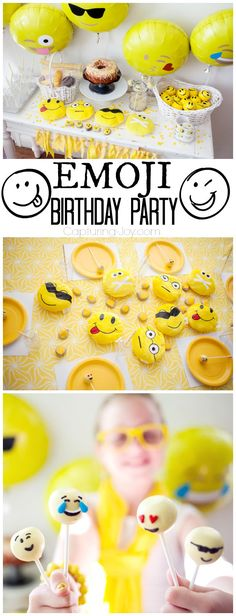 Emoji Birthday Party with Happy Face Emoticons! Perfect party idea for your teen!