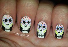 nailpolishrox04: skull nail art Skull Nail Art, Skull Nails, Fashion Ideas, Polish, Painting, Varnishes, Painting Art, Manicure, Paint