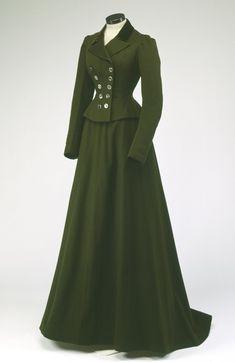 Riding Habit, 1900 victorian dress gown