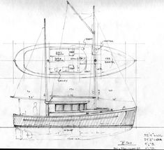 Northcoast 34, Sail-Assisted Motor Vessel ~ Power Boat Designs by Tad Roberts