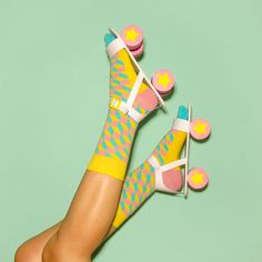 socks: Happy Socks roller skates: handmade paper prop by Marion Toy Sport Style, Mode Inspiration, Color Inspiration, Still Life Photography, Fashion Photography, Skate, Happy Socks, Fun Socks, Cotton Socks
