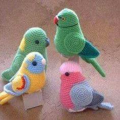Periquito de crochet