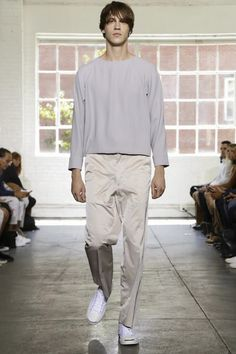 Duckie Brown Ready To Wear Spring Summer 2015 New York wearing JACK PURCELL