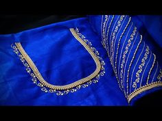 Cutwork Blouse Designs, Simple Blouse Designs, Aari Embroidery, Embroidery Works, Back Neck Designs, Wedding, Beautiful, Youtube, Valentines Day Weddings
