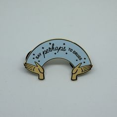 Just say no to the REAL bad ones! This pin is a reference to the beloved podcast, My Favorite Murder. It is 1.5 inches wide and made of jewelry grade hard enamel. It even has two posts so it doesnt wiggle on your jacket