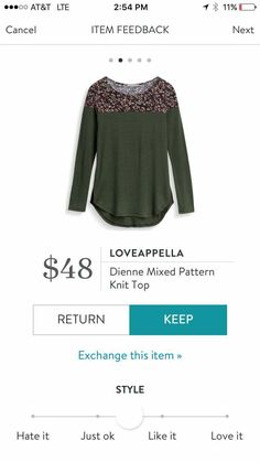 Loveappella Dienne Mixed Pattern Knit Top