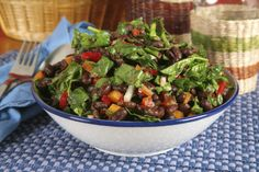 Diabetic Diet: Black Bean Taco Salad