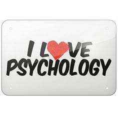 "Metal Sign I Love Psychology, Small 8x12"" - Neonblond"
