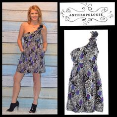 """NWT Yumi Kim for Anthropologie One Shoulder Dress How perfect would this dress be for Valentine's Day?!? Brand new, fun & flirty dress from Anthropologie!  Brand: Yumi Kim 100% Silk Medium Measurements taken relaxed & laying flat: Bust: 34"""", Length: 35"""", Waist: 30"""", Hips: 43"""".  Features 2 front pockets 3-D Embroidered rose Imported Fabulous dress!!  Price firm, unless bundled.  Trades PayPal Anthropologie Dresses"""