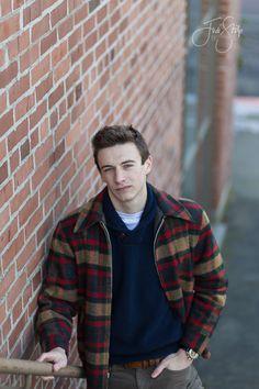 Jodi Stilp Photography, LLC., senior portraits, Newberg High School, senior guy, vintage jacket, stairs