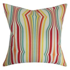 The Pillow Collection Cachoiera Stripes Pillow Carnival - P18-D-42175-589CARNIVAL-C100