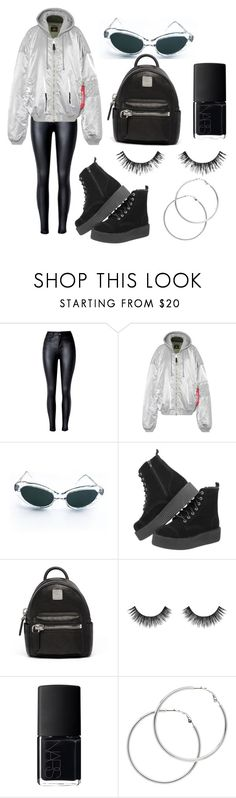 """""""#378"""" by delibabyblue on Polyvore featuring Vetements, T.U.K., MCM, Velour Lashes, NARS Cosmetics and Melissa Odabash"""