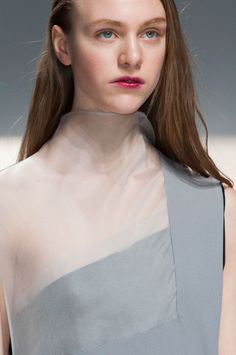 Hussein Chalayan Fall 2014 - Details Like fabric/neckline detailing.