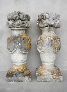 Pair of c. Paniers de Fruits from the Village of Remoulins, France Garden Urns, Garden Statues, Small Furniture, Garden Ornaments, French Decor, Architectural Salvage, French Style, French Country, Decoration
