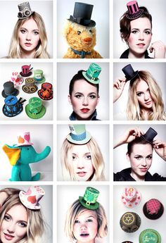 Paper couture tops hats photos - Instantly download paper hats!