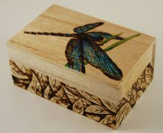 This woodburned box is one that I added a little color to, which is rare.  I usually don't add color to my woodburnings.