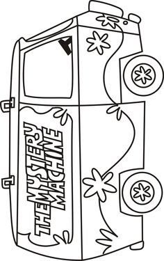 Scooby Doo Mystery Machine Coloring Pages Scooby doo mystery machine