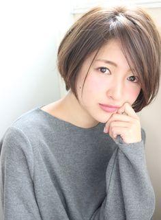 大人おしゃれ、襟足短めショートボブ☆(髪型ショートヘア)