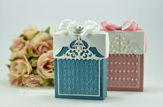 Filigree Top Box Tutorial - contains eight small cards - www.amazingpapergrace.com
