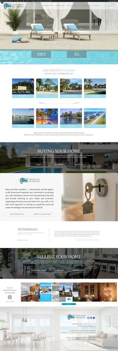 Custom Real Estate Web Design Florida Home, Web Design Inspiration, Custom Design, Real Estate, Real Estates