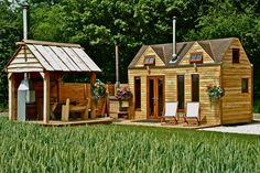 Five miniature, glamping homes boasting massive personalities - a perfect blend of fluffy beds, country views and steaming, outdoor hot tubs…