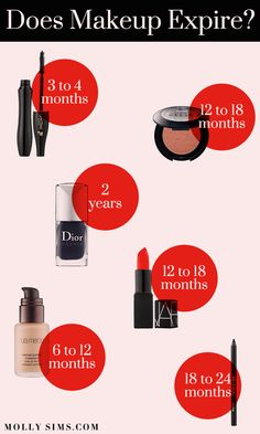 Does #makeup expire? Here's a handy dandy guide on what to toss and what to keep!