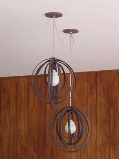 lamparas colgantes.. Light Fixtures, Diy And Crafts, Chandelier, Ceiling Lights, Lighting, Metal, Design, Home Decor, Night Lamps