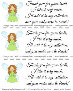 A Note From the Tooth Fairy {printable poem from the tooth fairy!} www.wendywoerner.com #toothfairyfun #freeprintable