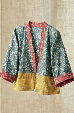 Ideas Sewing Clothes Boho Jackets sew einfach clothes crafts for beginners ideas projects room Mode Kimono, Kimono Jacket, Batik Fashion, Boho Fashion, Fashion Design, Sewing Clothes, Diy Clothes, Cotton Jacket, Cotton Kimono
