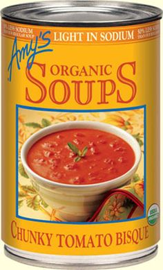 This is what I ate to survive the flu of 2013 :-) Sooooo Yummy!!!.... Organic Light in Sodium - Chunky Tomato Bisque