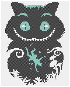 "BOGO FREE! - ""Cheshire Cat""-Alice's Adventures in Wonderland- cross stitch pdf Pattern - pdf pattern instant download #109 by Rainbowstitchcross on Etsy"