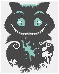 "BOGO FREE! - ""Cheshire Cat""-Alice's Adventures in Wonderland- cross stitch pdf Pattern - pdf pattern instant download  #109 by Rainbowstitchcross on Etsy"