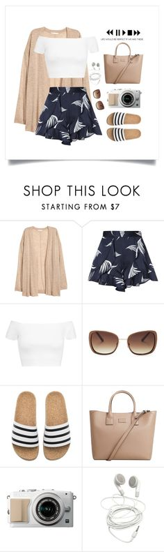 """""""Travel Enthusiast"""" by thedailywear ❤ liked on Polyvore featuring H&M, C/MEO COLLECTIVE, Alice + Olivia, Lucky Brand, adidas and MANGO"""