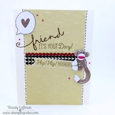 Stamping Rules!: Day 361: Sock Monkey Birthday Card
