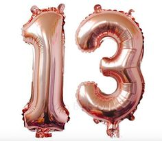 Rose Gold 13th Birthday Party 13 Number Balloons Girl Teen Birthday Decorations Party 13th Number Balloons 40 Inch Giant Birthday