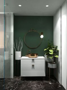 Amazing Bathroom Vanity Ideas Bathroom Vanity Ideas – Find the ideal vanity for your bathroom. Whether you're searching for a traditional, vintage, small, single, DIY on a budget or modern look Bathroom Mirror Design, Bathroom Interior Design, Home Interior, Decor Interior Design, Modern Bathroom, Interior Decorating, Bathroom Vanities, Vanity Mirrors, Small Bathroom