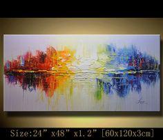 Original Abstract  Modern textured impasto palette by xiangwuchen